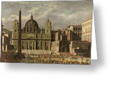 Exterior Of Saint Peter S, Rome Greeting Card