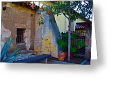 Exterior Wall Of Serra Chapel Mission San Juan Capistrano California Greeting Card