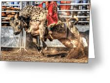 Extreme Bulls Greeting Card