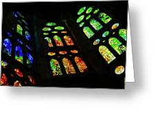 Exuberant Stained Glass Windows Greeting Card