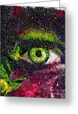 Eye And Butterflly Vegged Out Greeting Card
