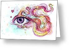 Eye Fish Surreal Betta Greeting Card
