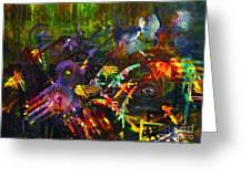 Eye In Chaos Greeting Card