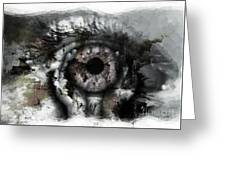 Eye In Hands Greeting Card