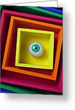 Eye In The Box Greeting Card