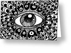 Eye Of March Greeting Card