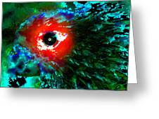 Eye Of Paradise Greeting Card