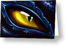 Eye Of The Blue Dragon Greeting Card