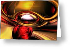 Eye Of The Gods Abstract Greeting Card