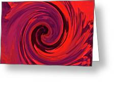 Eye Of The Honu - Red Greeting Card