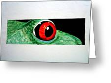 Eye Of The Red Eyed Tree Frog Greeting Card