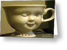 Eye Tea Cup 1 Greeting Card