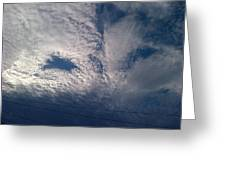 Eyes In The Clouds Greeting Card