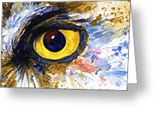 Eyes Of Owl's No.6 Greeting Card