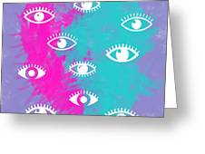 Eyes, The Look Greeting Card