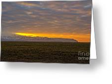 Eyjafjallajokull Sunrise Iceland Greeting Card