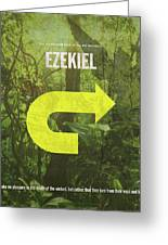 Ezekiel Books Of The Bible Series Old Testament Minimal Poster Art Number 26 Greeting Card