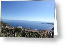 Eze's Garden Panoramic Greeting Card