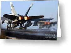 F 18 Hornet-aircraftcarriers Greeting Card