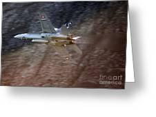 F 18 Hornet Greeting Card