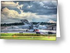 F-18 Hornet Takeoff Greeting Card