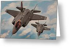 F-35's On Assignment  Greeting Card