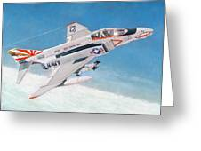 F-4b Phantom II Of Vf-111 Greeting Card