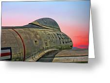 F-84g Thunderjet Greeting Card
