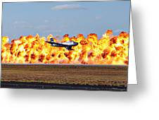 F-86 Wall Of Fire Greeting Card