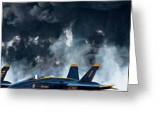 F/a -18 Super Hornet, U S Navy Blue Angeles Greeting Card