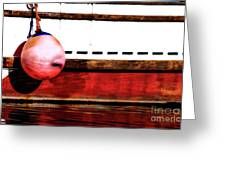 F Dock Buoy Greeting Card