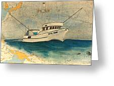 F/v Royal Dawn Tuna Fishing Boat Greeting Card