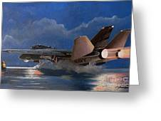 F14 Carrier Launch Greeting Card