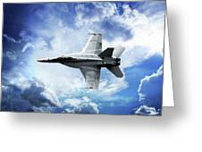 F18 Fighter Jet Greeting Card by Aaron Berg