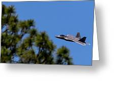 F22 Raptor Flying Low Greeting Card