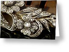Faberge Diamond Hair Comb Detail Greeting Card