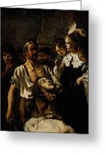 Fabritius Carel The Beheading Of St John The Baptist Greeting Card