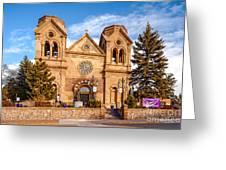 Facade Of Cathedral Basilica Of Saint Francis Of Assisi - Santa Fe New Mexico Greeting Card