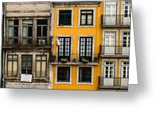 Facades Of Porto Greeting Card