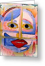 Face 1 Greeting Card