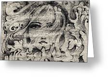 Face In The Storm Greeting Card