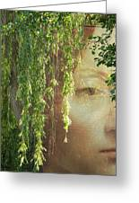 Face In The Willows Greeting Card