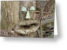 Face In The Woods Greeting Card