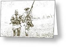 Face Of Danger Soldier Sketch Greeting Card