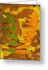 Face Of Fall Greeting Card