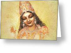 Face Of The Goddess - Lalitha Devi - Without Frame Greeting Card