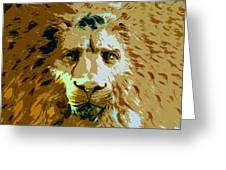 Face Of The Lion Greeting Card