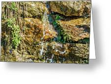 Face Of The Mountain Stream Greeting Card