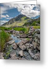 Face Of Tryfan Greeting Card