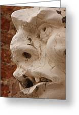 Face On San Trovaso Bell Tower Greeting Card
